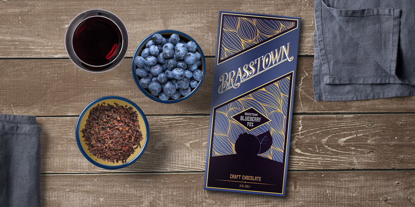 Tasting Brasstown Blueberry chocolate could put a delightful smile on your face for no particular reason.